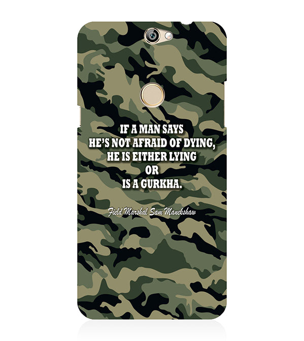 Indian Army Quote Back Cover for Coolpad Max