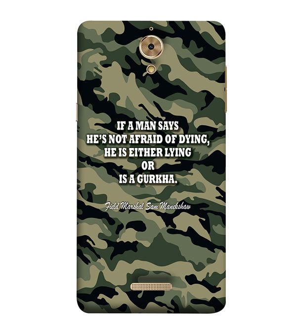 Indian Army Quote Back Cover for Coolpad Mega 2.5D