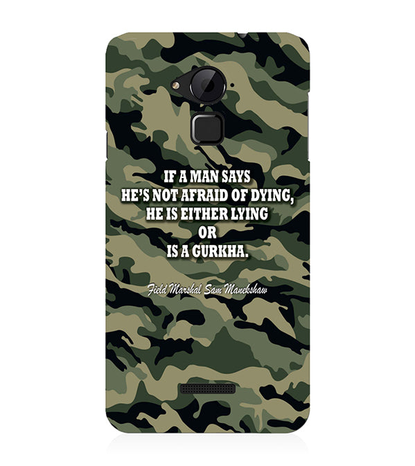 Indian Army Quote Back Cover for Coolpad Note 3