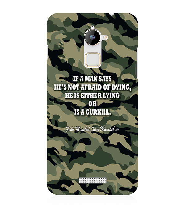 Indian Army Quote Back Cover for Coolpad Note 3 Lite