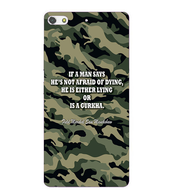 Indian Army Quote Back Cover for Gionee Elife S7