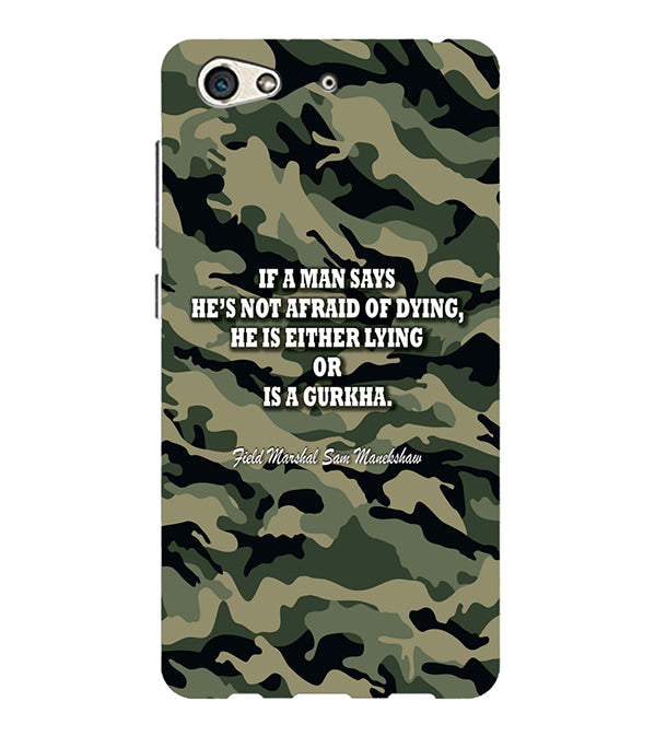 Indian Army Quote Back Cover for Gionee S10