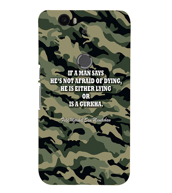 Indian Army Quote Back Cover for Google Nexus 6P
