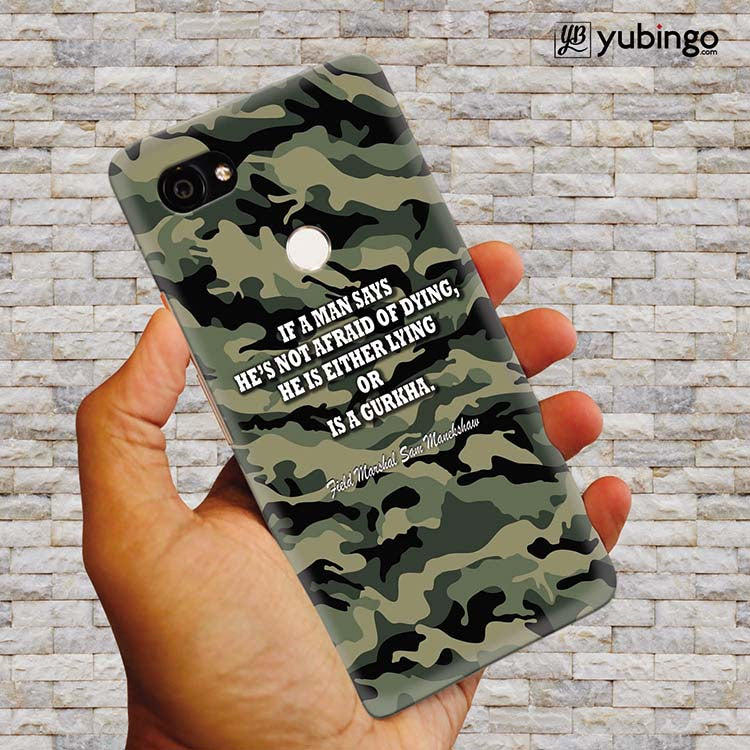 Indian Army Quote Back Cover for Google Pixel 2 XL (6 Inch Screen)