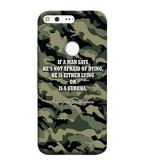 Indian Army Quote Back Cover for Google Pixel