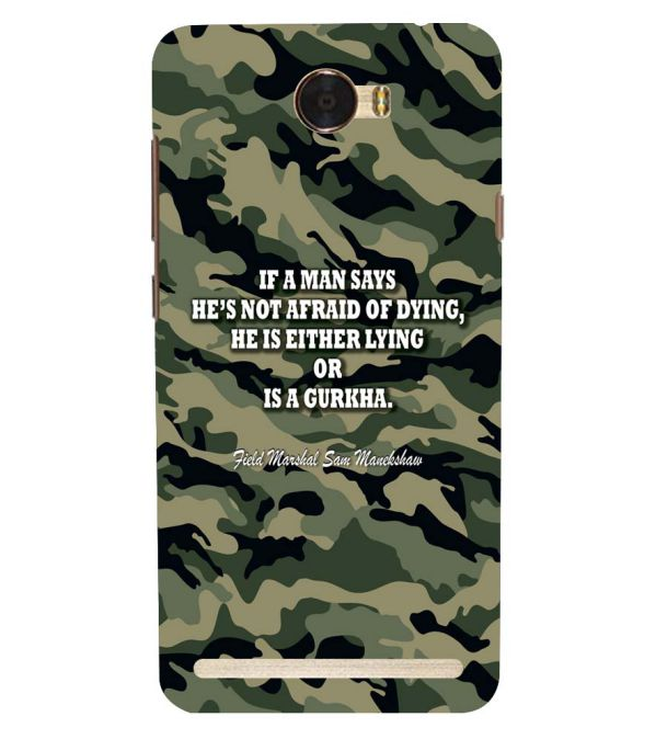 Indian Army Quote Back Cover for Huawei Honor Bee 2 :: Huawei Y3 2