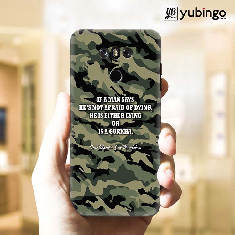 Indian Army Quote Back Cover for LG G6