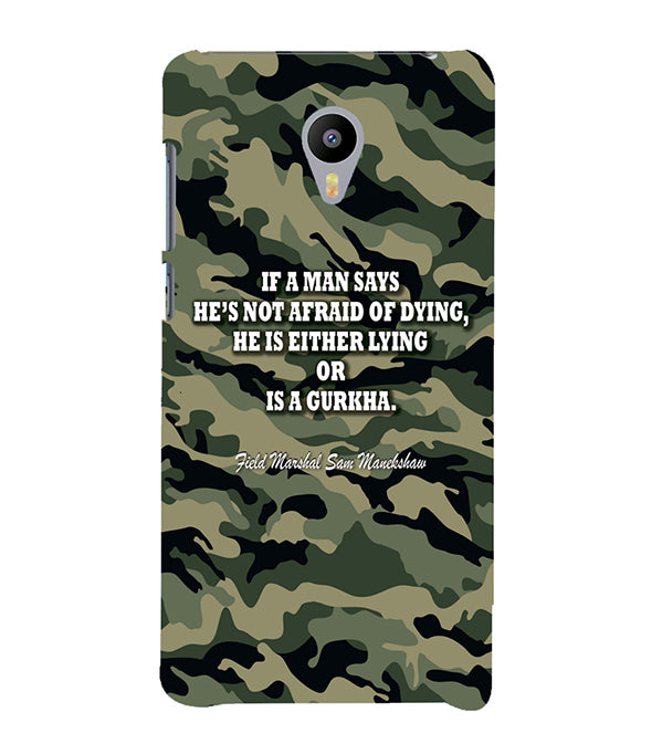 Indian Army Quote Back Cover for Meizu M3 Note