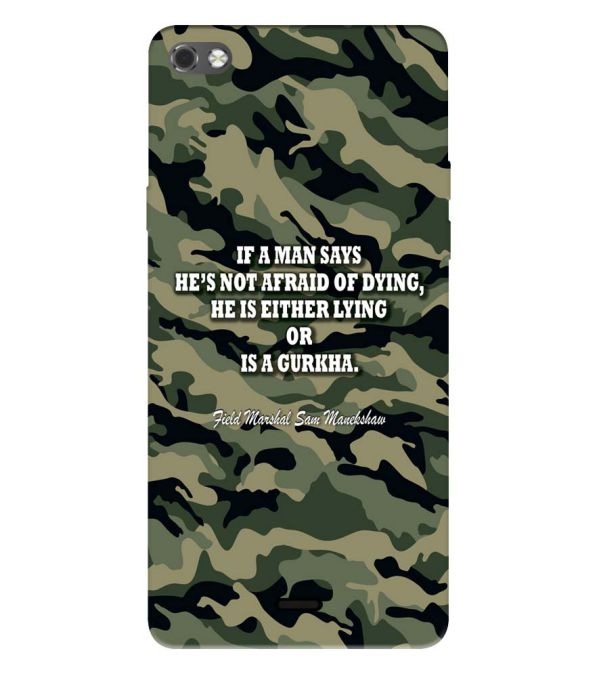Indian Army Quote Back Cover for Micromax Canvas Sliver 5 Q450