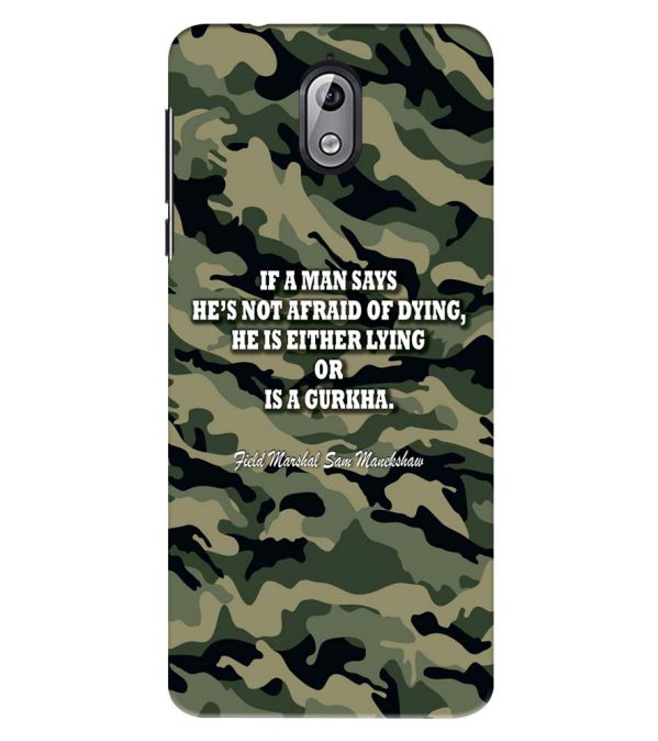 Indian Army Quote Back Cover for Nokia 3.1 (2018)