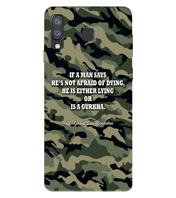Indian Army Quote Back Cover for Samsung Galaxy A8 Star