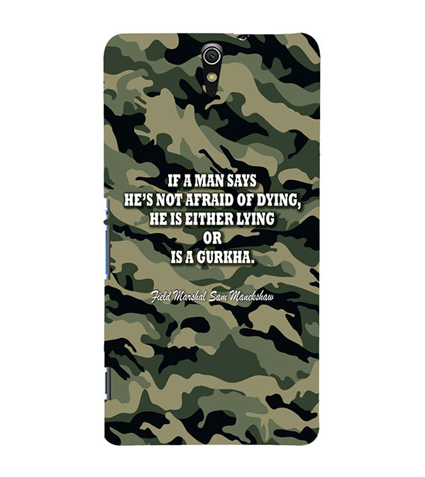 Indian Army Quote Back Cover for Sony Xperia C5