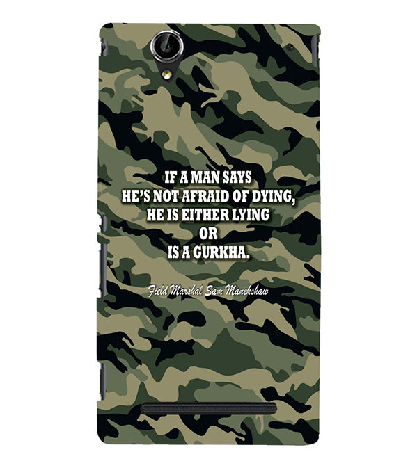 Indian Army Quote Back Cover for Sony Xperia T2