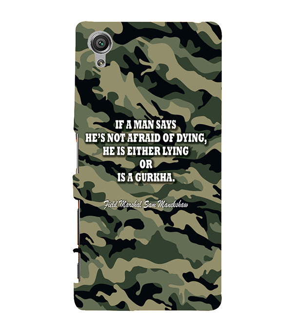 Indian Army Quote Back Cover for Sony Xperia X