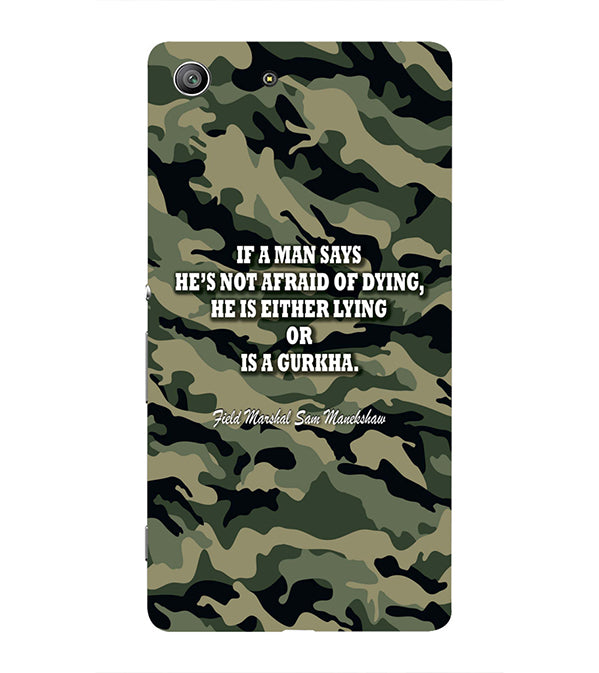 Indian Army Quote Back Cover for Sony Xperia Z3 Compact