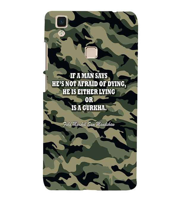 Indian Army Quote Back Cover for Vivo V3Max