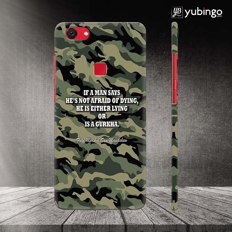 new concept 986a4 482a9 Indian Army Quote Back Cover for Vivo V7 Plus