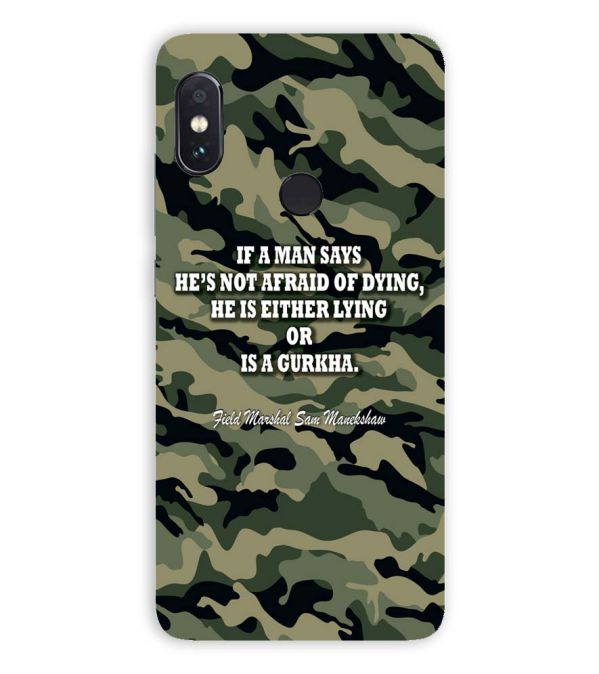 dc21336d7 YuBingo - Buy Indian Army Quote Designer Case for Xiaomi Redmi 6 Pro ...