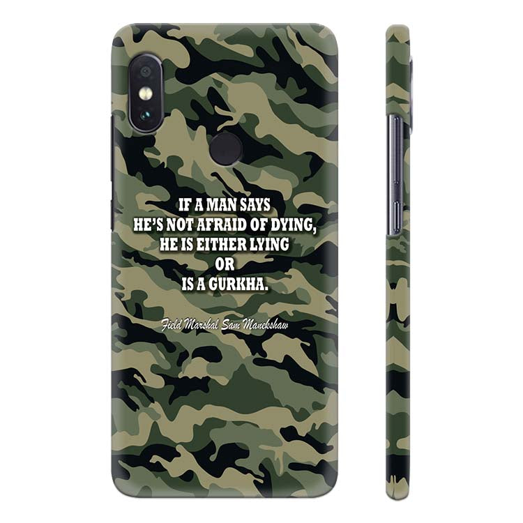 new concept 993a3 d2e2f Indian Army Quote Back Cover for Xiaomi Redmi Note 5 Pro