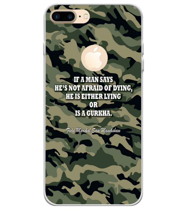 f25dd33ad4 Buy Printed Indian Army Quote Designer Case for Apple iPhone 7 Plus ...