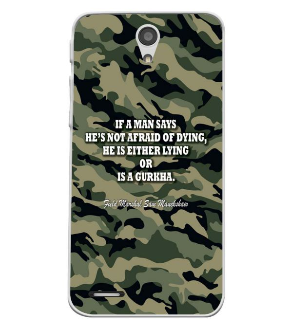 Indian Army Quote Soft Silicone Back Cover for InFocus M260