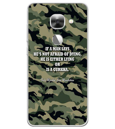 Indian Army Quote Back Cover for LeEco Le 2s