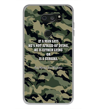 Indian Army Quote Back Cover for LG V30 Plus-Image3