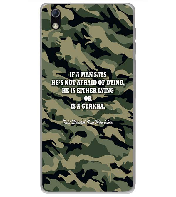 Indian Army Quote Back Cover for LYF Water 1