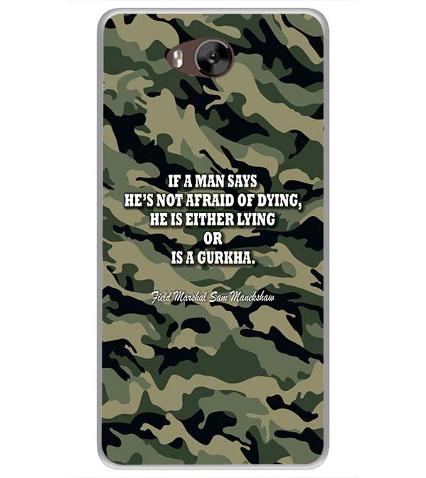 Indian Army Quote Soft Silicone Back Cover for LYF Wind 4s