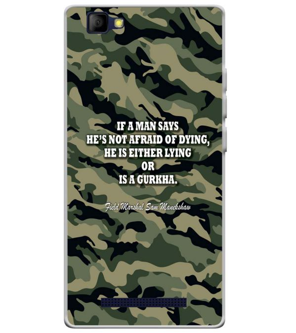Indian Army Quote Soft Silicone Back Cover for Lyf Wind 7S
