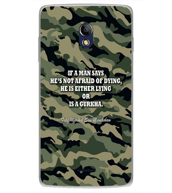 Indian Army Quote Back Cover for Oppo Joy 3 Plus