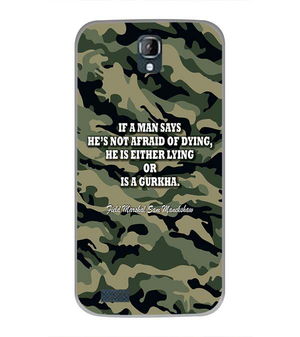 Indian Army Quote Back Cover for Panasonic Eluga Icon