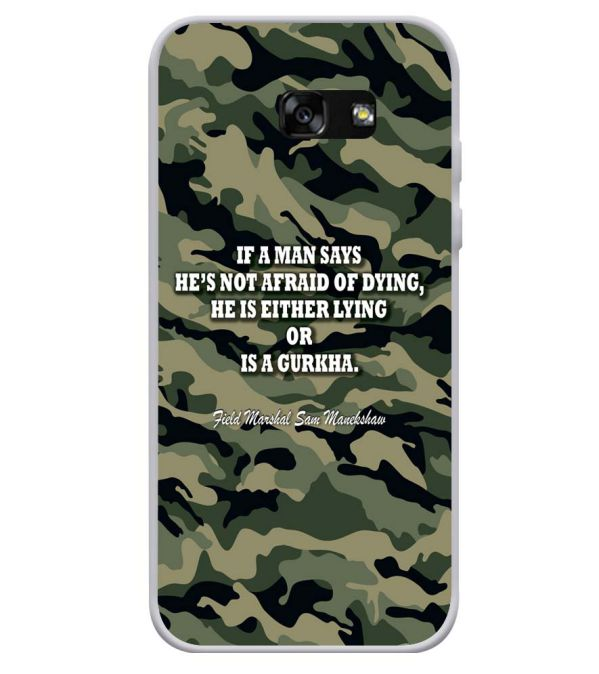 Indian Army Quote Soft Silicone Back Cover for Samsung Galaxy A3 (2017)