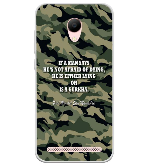 Indian Army Quote Soft Silicone Back Cover for Voto V2