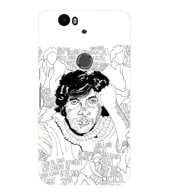 Indro's Art Big B Back Cover for Google Nexus 6P