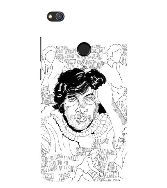 Indro's Art Big B Back Cover for Huawei Honor 8 Lite