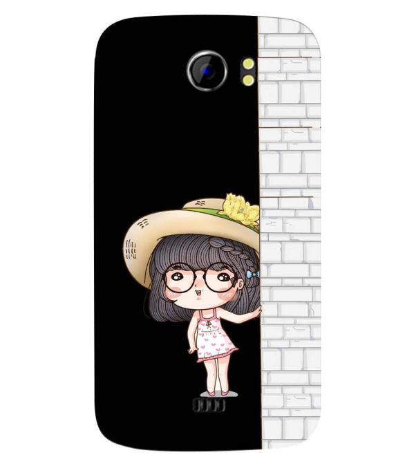 Innocent Girl Back Cover for Micromax A110 Canvas 2