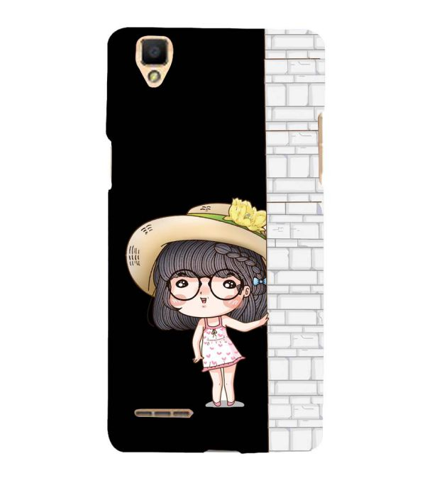 Innocent Girl Back Cover for Oppo F1