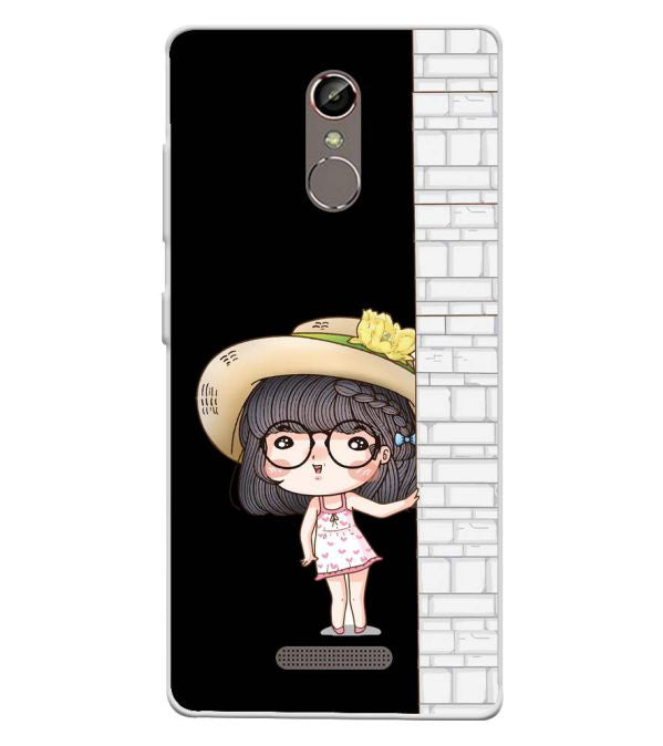 Innocent Girl Soft Silicone Back Cover for Gionee S6s