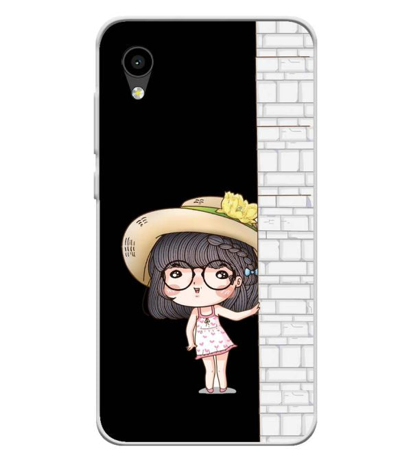Innocent Girl Soft Silicone Back Cover for Intex Aqua 4G Mini
