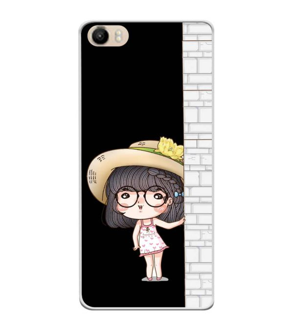 Innocent Girl Soft Silicone Back Cover for Itel PowerPro P41
