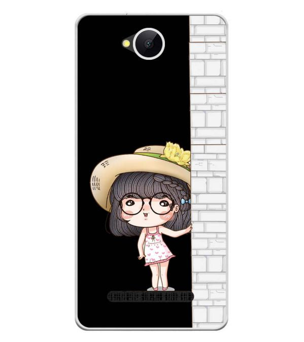 Innocent Girl Soft Silicone Back Cover for Karbonn A45 Indian