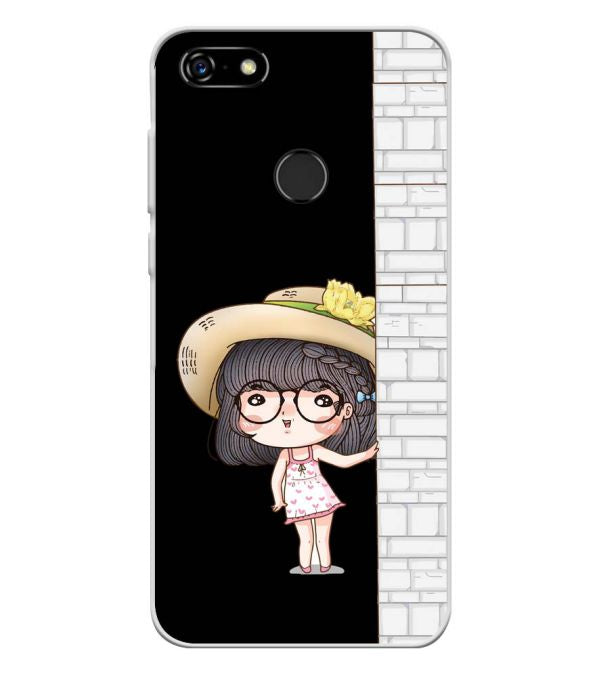Innocent Girl Soft Silicone Back Cover for Lenovo A5