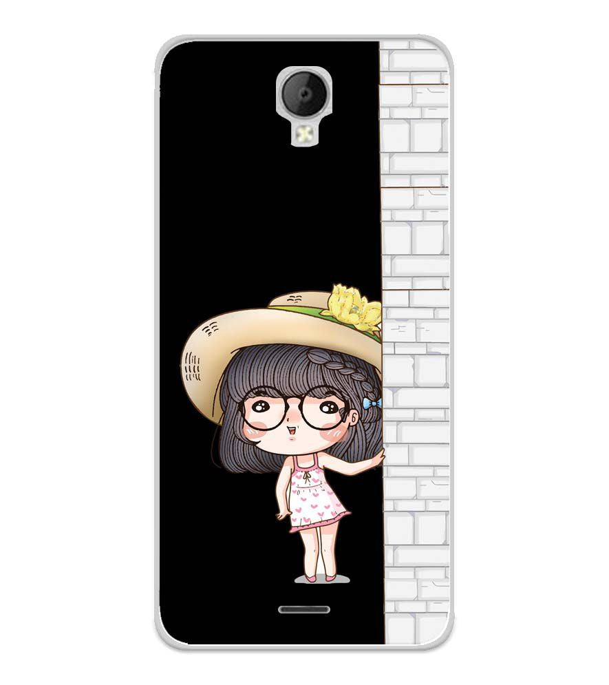 Innocent Girl Soft Silicone Back Cover for Micromax Spark Go