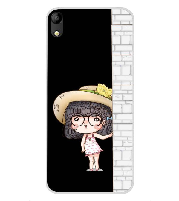 Innocent Girl Soft Silicone Back Cover for Mobistar C1