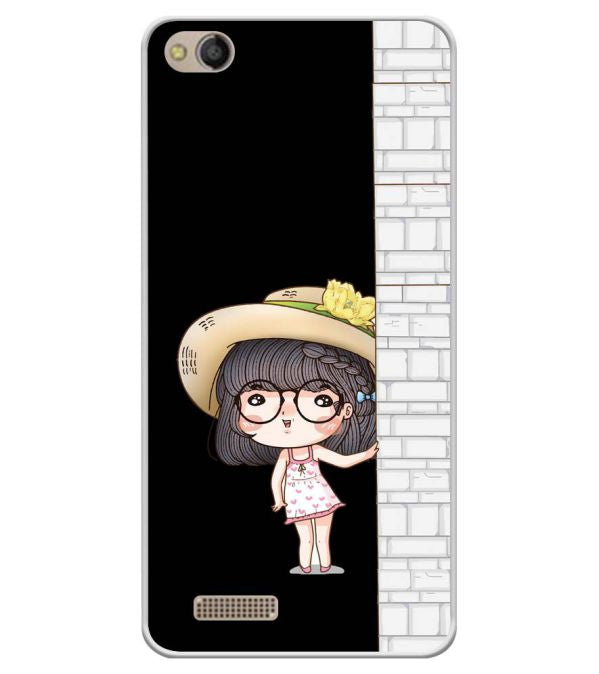 Innocent Girl Soft Silicone Back Cover for Mobistar CQ Dual