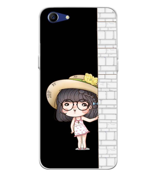 Innocent Girl Soft Silicone Back Cover for Oppo A83