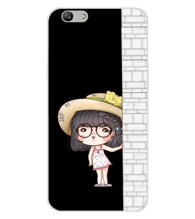 buy popular cb773 170f9 Innocent Girl Soft Silicone Back Cover for Oppo F1s : A59
