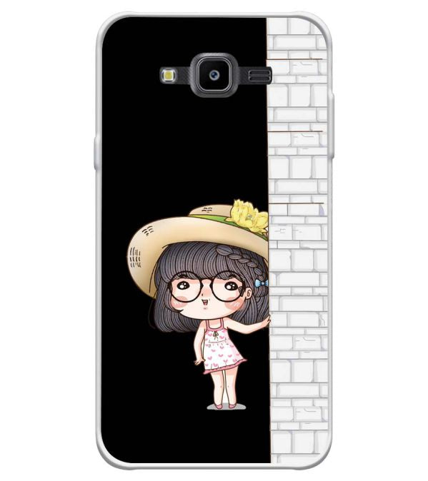 Innocent Girl Soft Silicone Back Cover for Samsung Galaxy J7 Nxt