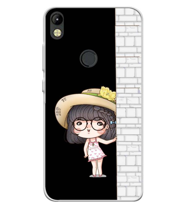 Innocent Girl Soft Silicone Back Cover for Tecno Camon I